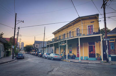 Poster featuring the photograph Royal And Touro Streets Sunset In The Marigny by Ray Devlin