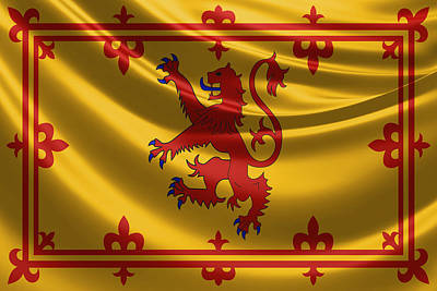 Royal Banner Of The Royal Arms Of Scotland Poster by Serge Averbukh