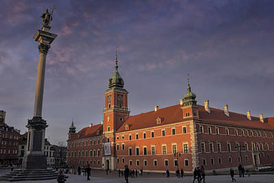 Royal Castle Warsaw Old Town Poster by Carol Japp