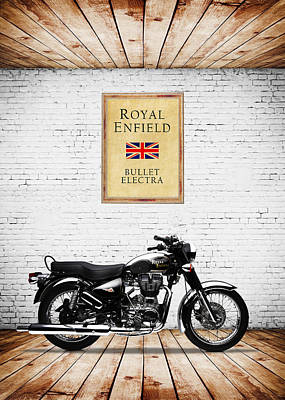 Royal Enfield Bullet Electra Poster by Mark Rogan