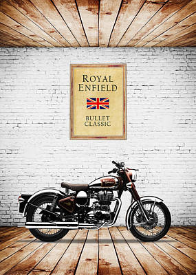 Royal Enfield Classic C5 Poster by Mark Rogan