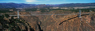 Royal Gorge Bridge Arkansas River Co Poster by Panoramic Images