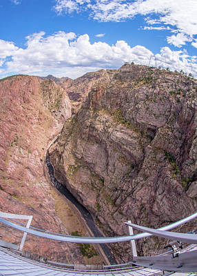 Royal Gorge From The Bridge Poster by Jim Hughes
