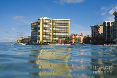 Royal Hawaiian Hotel Seen From Ocean Poster by Dana Edmunds - Printscapes