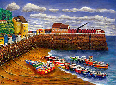 Rozel Harbour - Jersey Poster by Ronald Haber