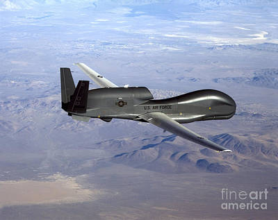 Rq-4 Global Hawk Poster by Photo Researchers