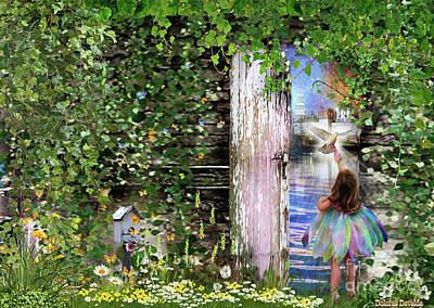 Poster featuring the digital art  Ruach Ha-kodesh by Dolores Develde