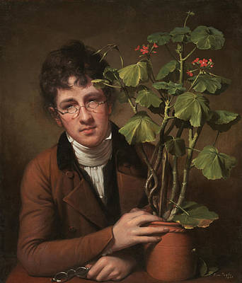 Ruben Peale With A Geranium Poster by Mountain Dreams