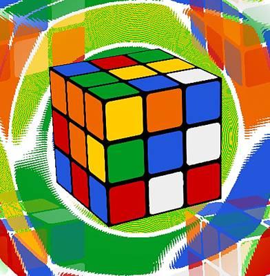 Rubik's Cube 2 Poster by Chris Butler