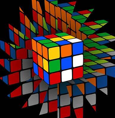 Rubik's Cube Poster by Chris Butler