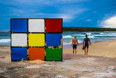Rubiks Cube No Mystery For Surfer Boys Poster by Paul Donohoe
