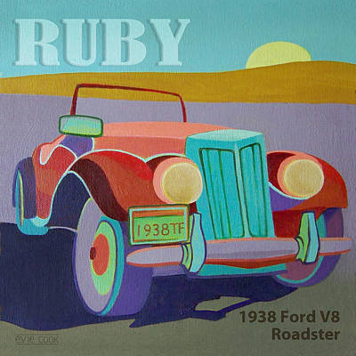 Ruby Ford Roadster Poster