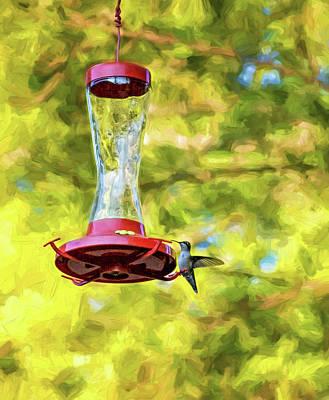 Ruby-throated Hummingbird 2 - Impasto Poster