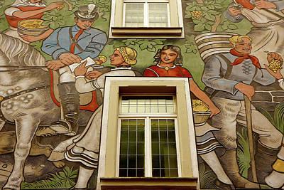 Poster featuring the photograph Rudesheim Mural by KG Thienemann