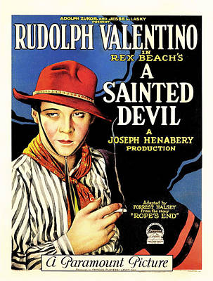 Rudolph Valentino In A Sainted Devil 1923 Poster