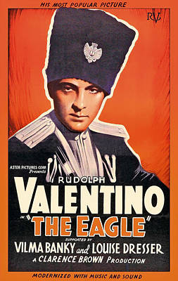 Rudolph Valentino In The Eagle 1925 Poster