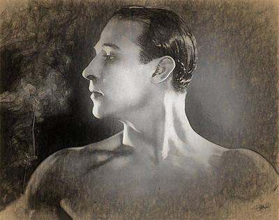 Rudolph Valentino Sketch Poster