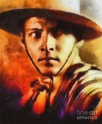 Rudolph Valentino, Vintage Hollywood Legend Poster by Mary Bassett