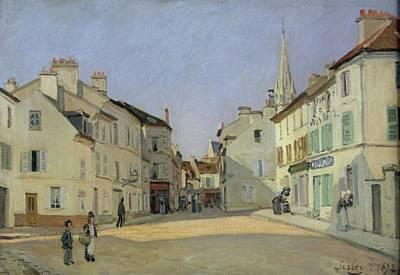 Rue De La Chaussee At Argenteuil Poster