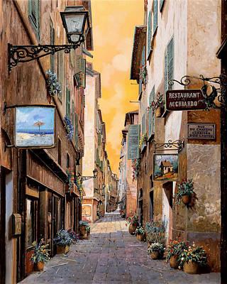 Rue Droite Nice  Poster by Guido Borelli