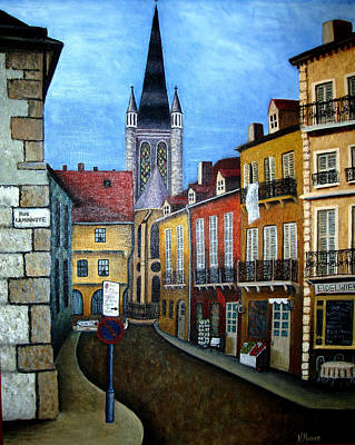 Rue Lamonnoye In Dijon France Poster by Nancy Mueller