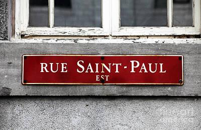 Rue Saint-paul Poster by John Rizzuto
