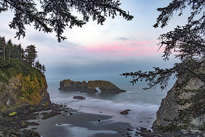Rugged Coast Sunrise Poster by Leland D Howard