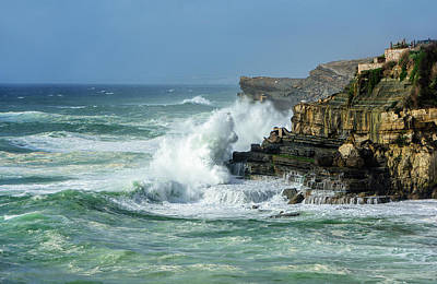 Poster featuring the photograph Rugged Coastal Seascape by Marion McCristall
