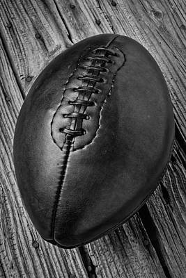 Rugged Leather Football Poster by Garry Gay