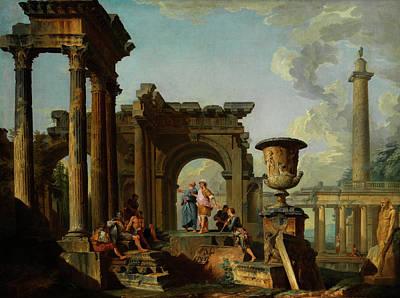 Ruinen Capriccio Poster