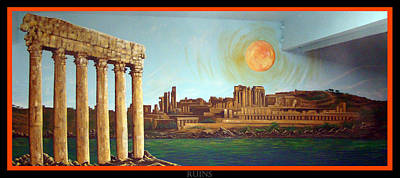 Ruins Poster by Christopher Wilhelm