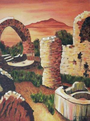 Ruins In Cumae Italy Poster