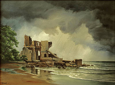 Ruins Near Kenosha Poster by Paul Krapf