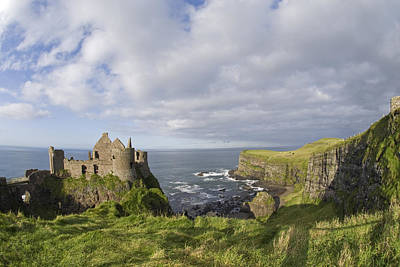 Ruins Of 13th Century Medieval Dunluce Poster
