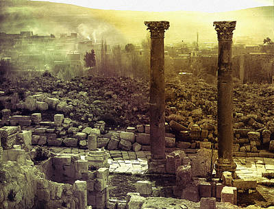 Poster featuring the photograph Ruins Of Jurash by Robert G Kernodle