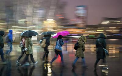 Run Between The Raindrops Poster