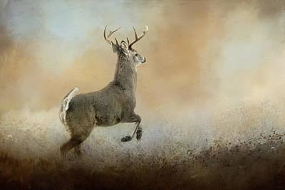 Run From Negativity Deer Art Poster