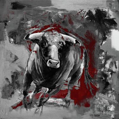 Running Bull 0003 Poster by Gull G