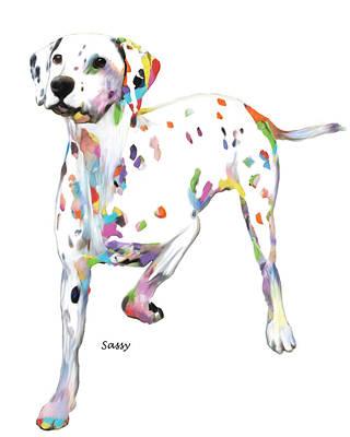 Running Dalmatian Poster