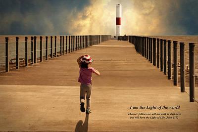 Running To The Light Poster by Carol Deltoro