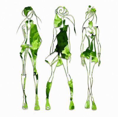 Runway Models Fashion Salad Dressing Poster