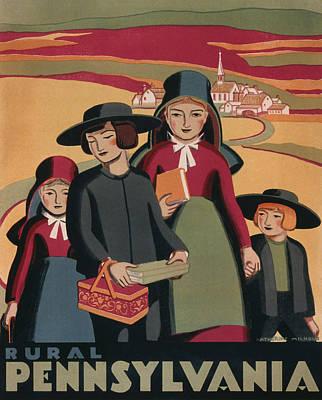 Rural Pennsylvania - Vintage Wpa Travel Poster
