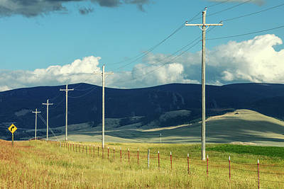 Rural Power Line Poster by Todd Klassy