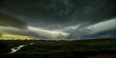 Rural Spring Storm Over Chester Nebraska Poster by Art Whitton