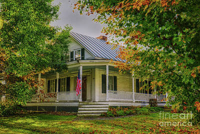 Poster featuring the photograph Rural Vermont Farm House by Deborah Benoit