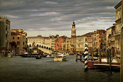 Poster featuring the photograph Rush Hour Venice by John Hix