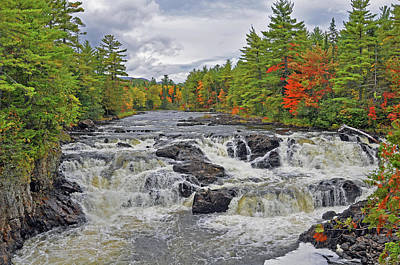 Poster featuring the photograph Rushing Towards Fall by Glenn Gordon
