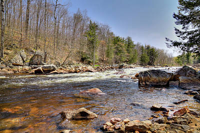 Poster featuring the photograph Rushing Waters Of The Moose River by David Patterson