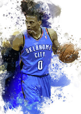 Russell Westbrook, Oklahoma City Thunder  Poster