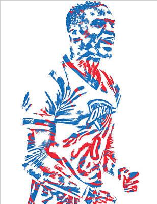 Russell Westbrook Oklahoma City Thunder Pixel Art 5 Poster